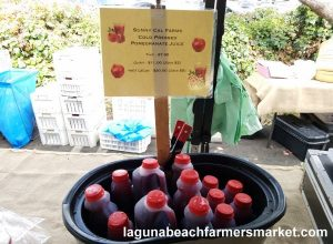 organic juice laguna beach farmers market pomegranate juice