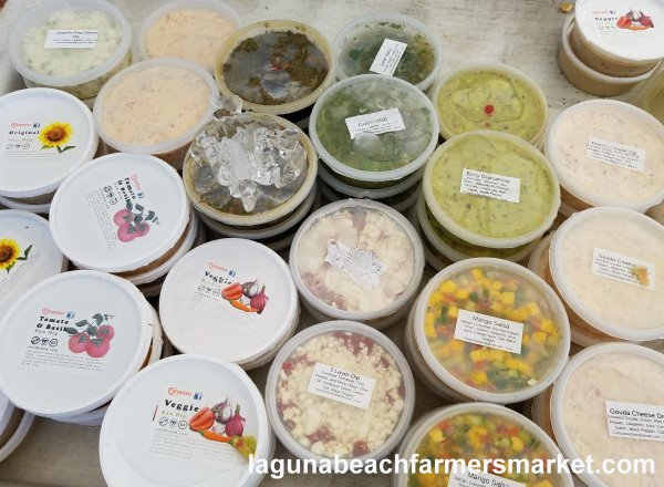 laguna beach farmers market consious dips